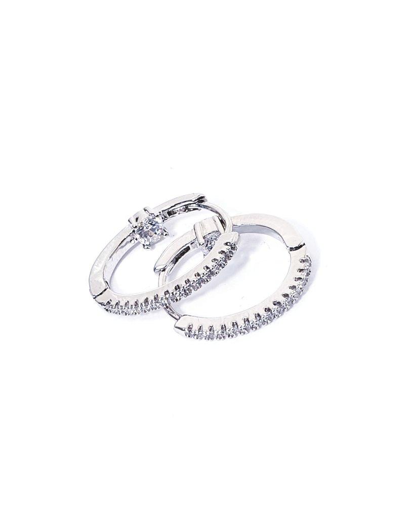 ERH0228 - Silver Hoop  Earring