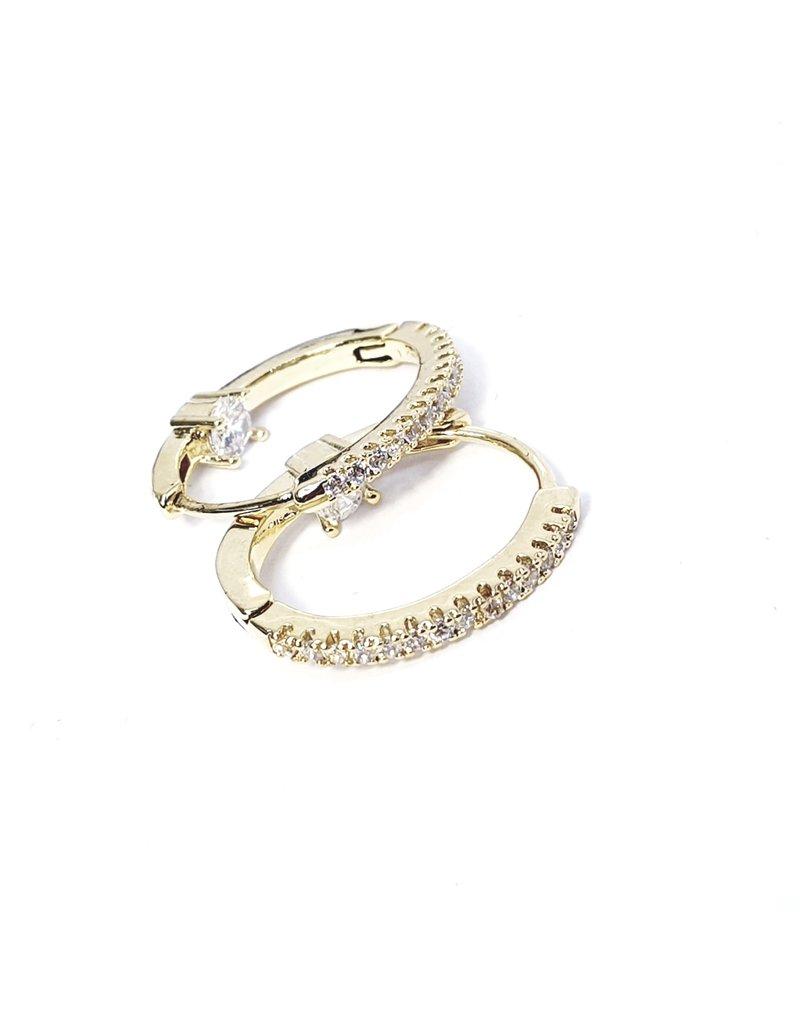 ERH0229 - Gold Hoop  Earring