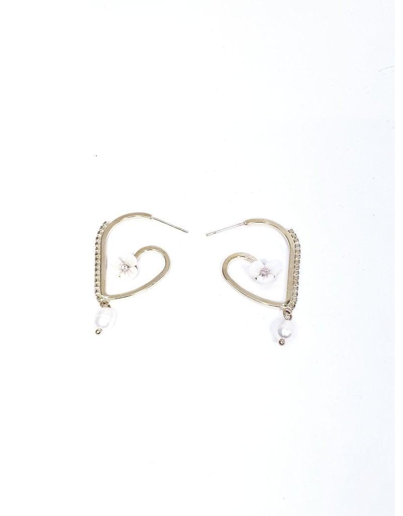 ERH0233 - Gold Bow  Earring