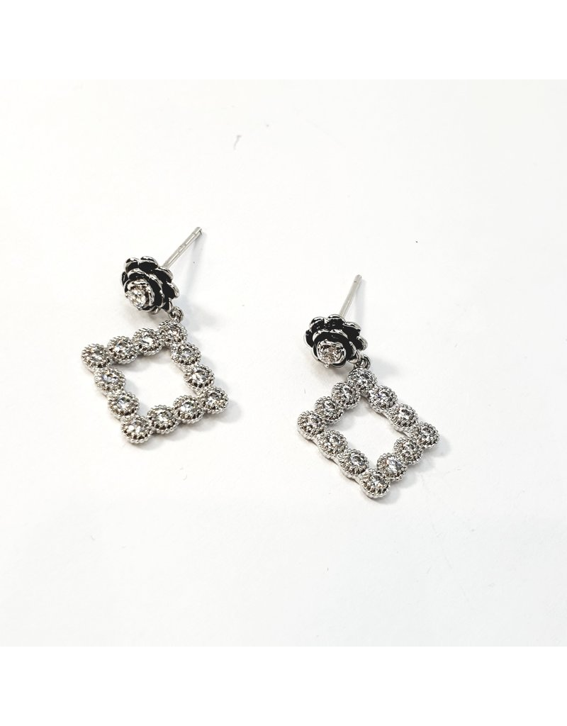 ERH0248 - Silver Diamond  Earring