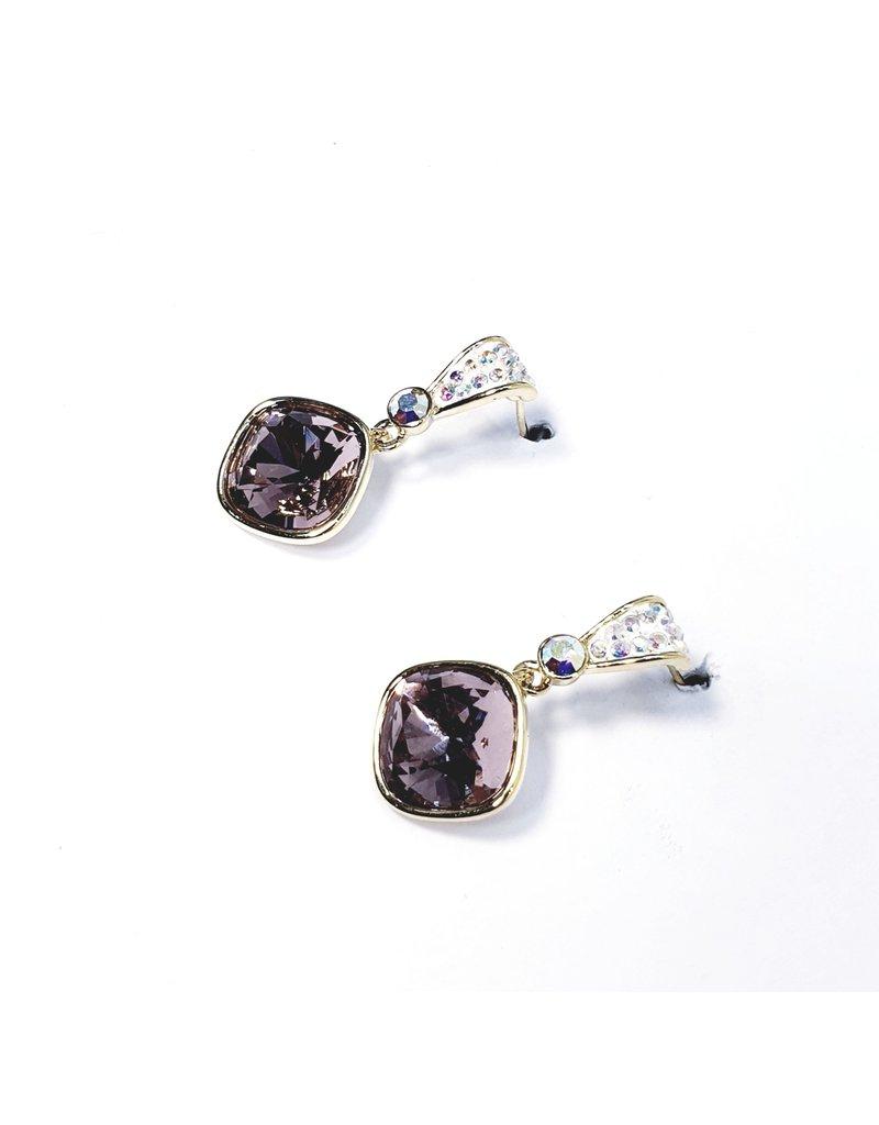 ERH0256 - Gold Purple  Earring