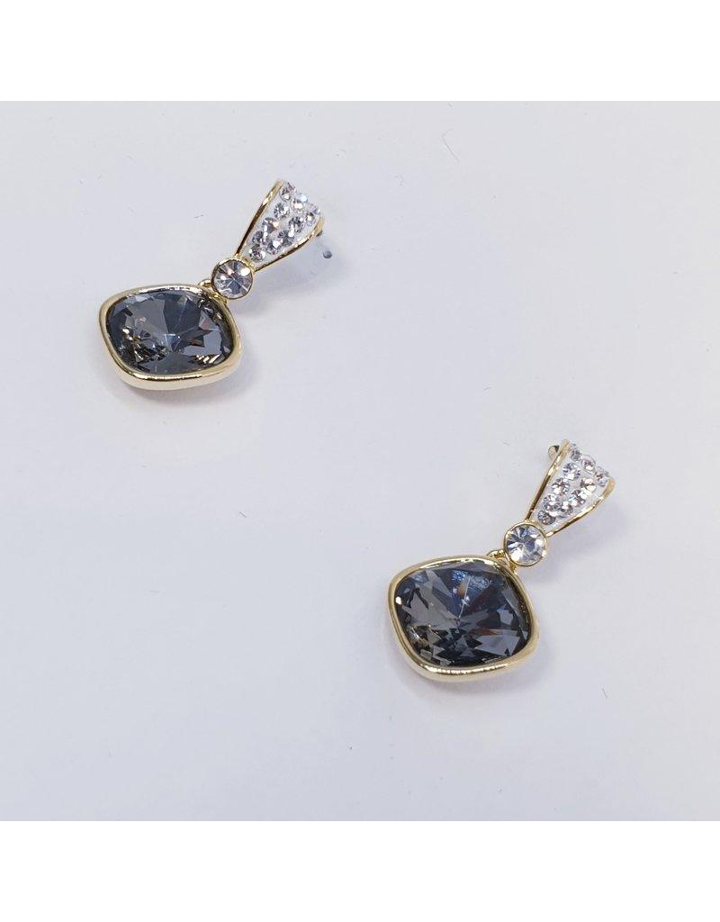 ERH0257 - Gold Black  Earring