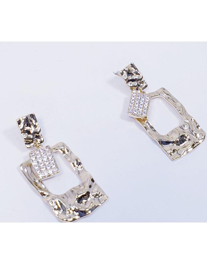 ERH0266 - Gold Diamante  Earring
