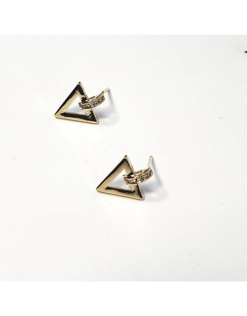 ERH0280 - Gold Triangle Earring