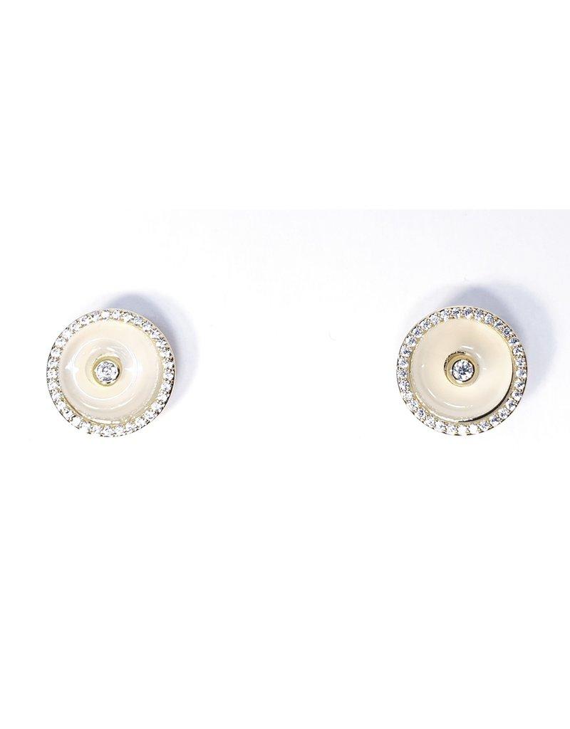 ERH0283 - Gold Lemon Circle  Earring