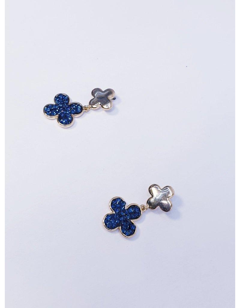 ERH0286 - Gold Blue  Earring