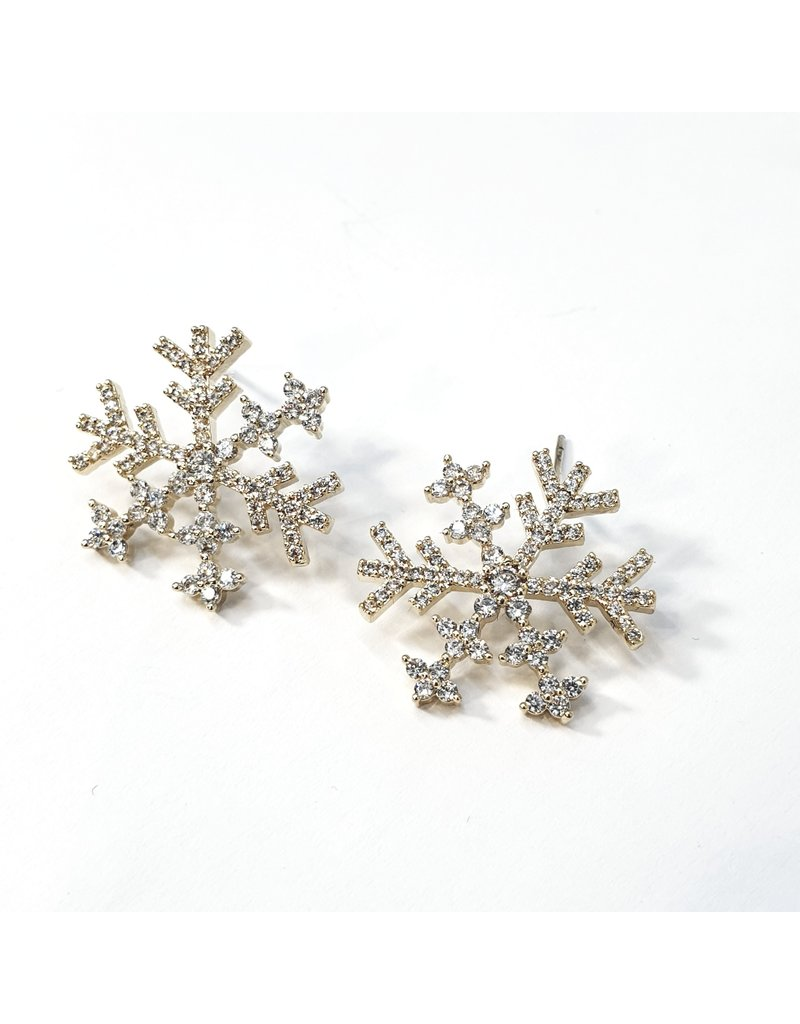 ERH0288 - Gold Snowflake  Earring