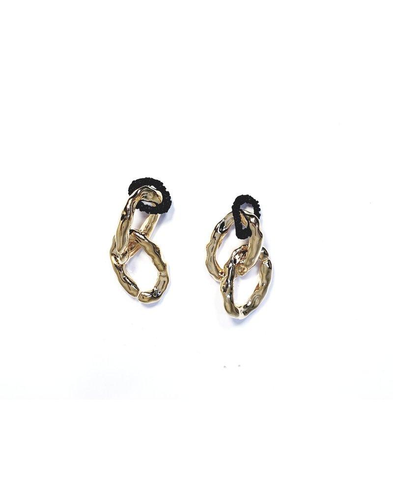 ERH0307 - Gold Black  Earring