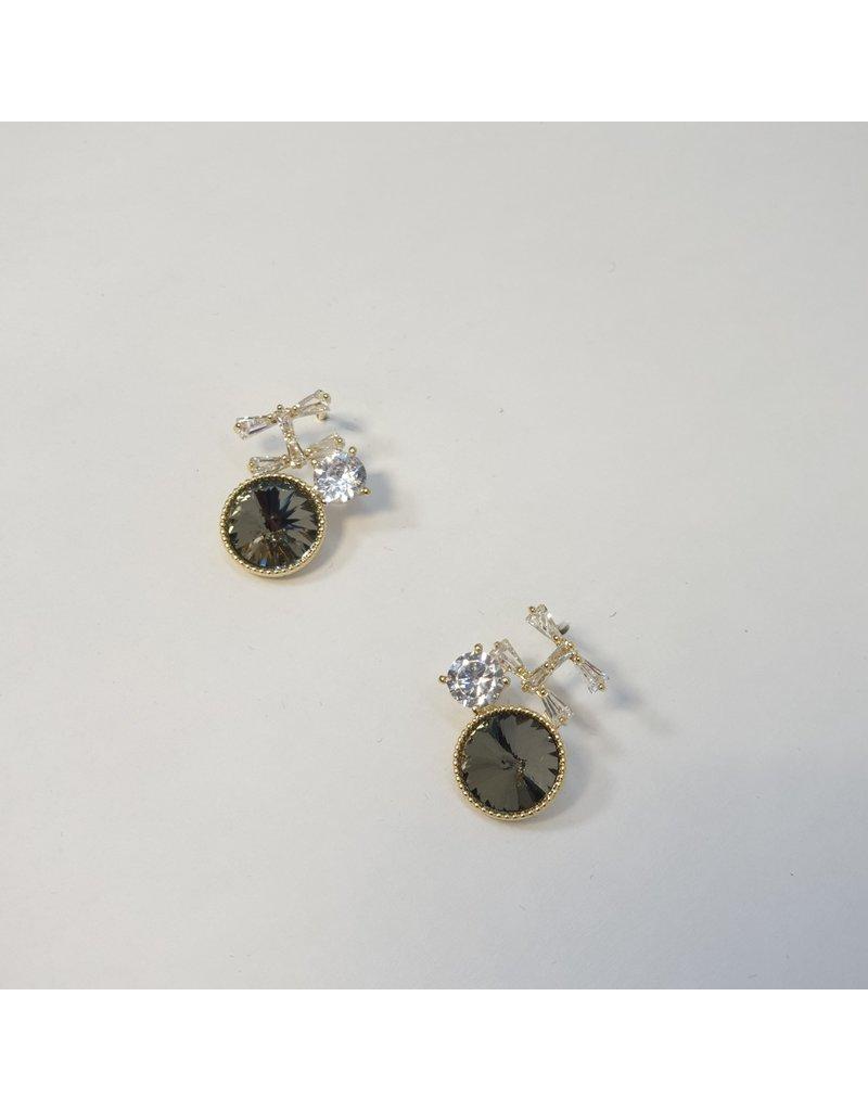 ERH0309 - Gold Grey  Earring