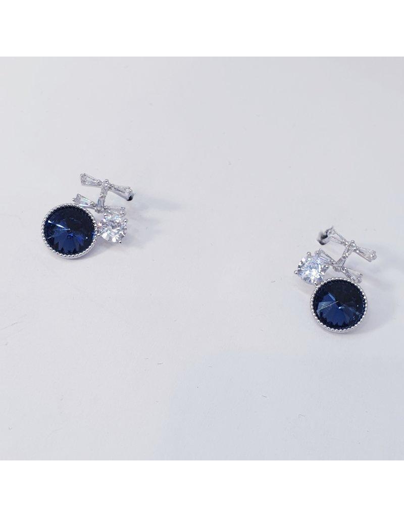 ERH0310 - Silver Blue  Earring
