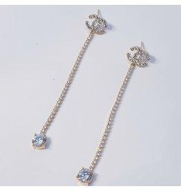 ERH0313 - Gold Drop  Earring