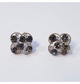 ERH0344 - Silver Black  Earring