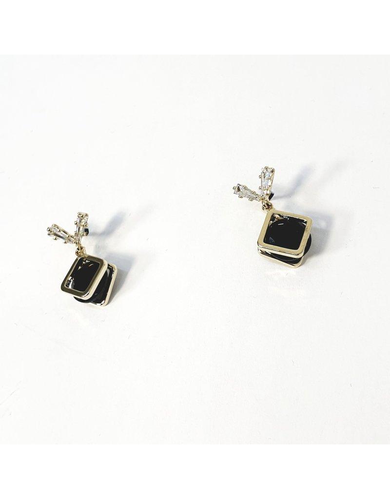 ERH0352 - Gold Black  Earring