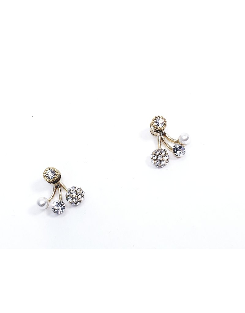 ERH0362 - Gold Pearls Earring