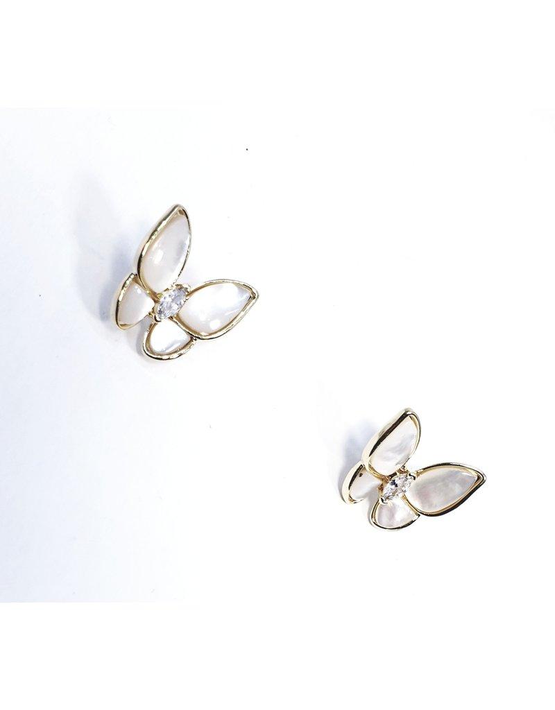 ERH0364 - Gold Butterfly  Earring