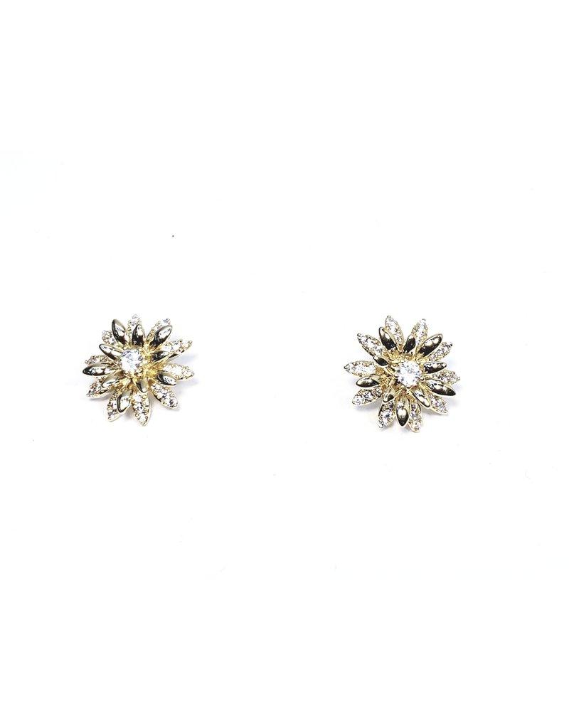 ERH0369 - Gold Flower  Earring