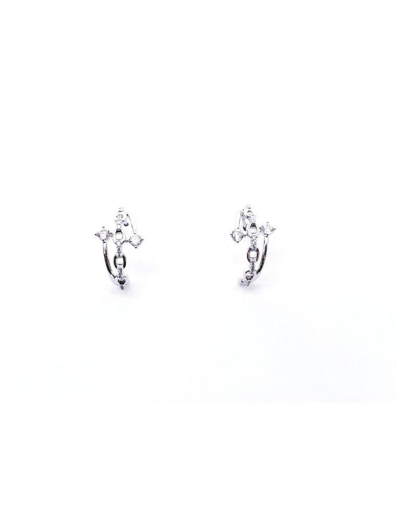 ERH0371 - silver ring earring