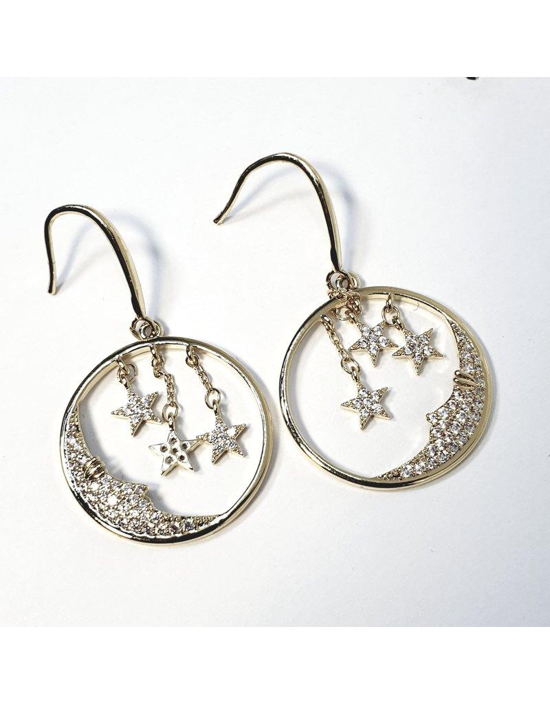 ERH0374 - Gold Drop  Earring