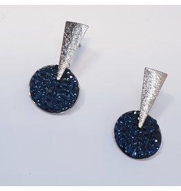 ERH0386 - Silver Blue  Earring