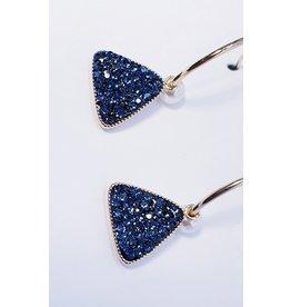 ERH0389 - Blue  Earring