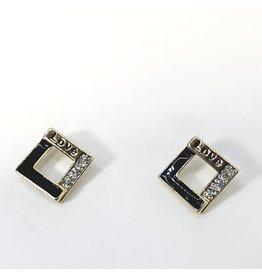 ERH0405 - Gold Black  Earring