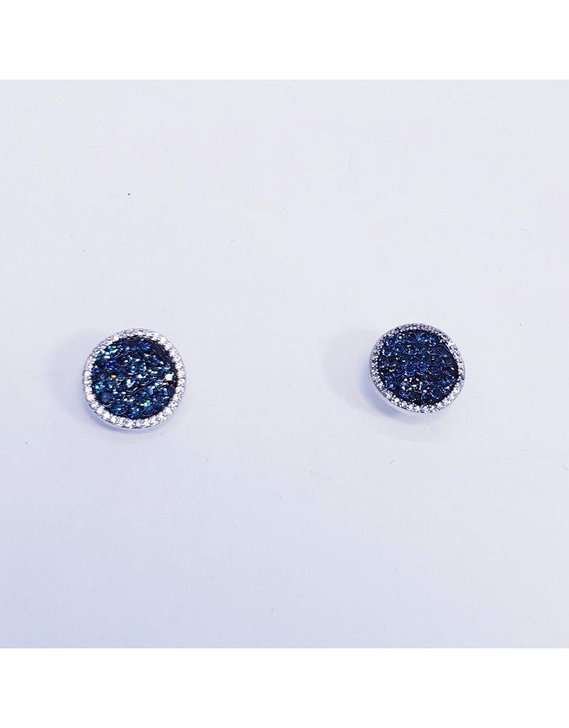 ERH0411 - Silver Blue  Earring
