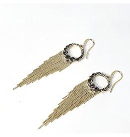 ERH0432 - Gold Charcoal  Earring
