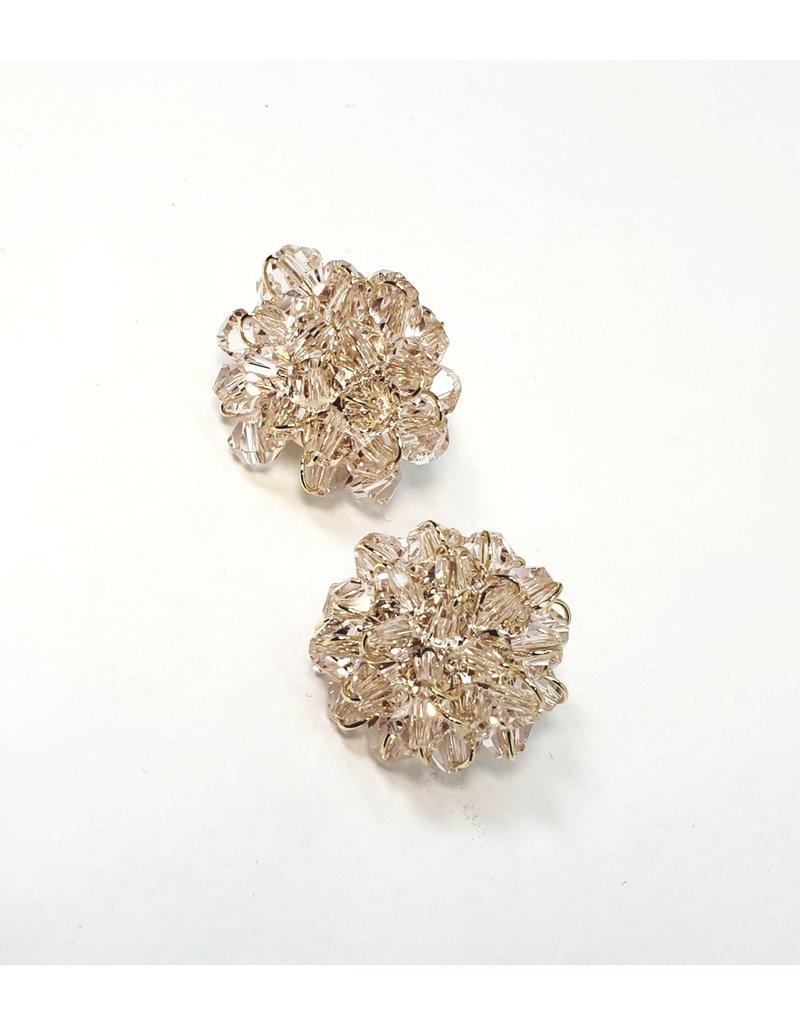 ERH0014 - Pink Rose Gold, Crystal,  Earring