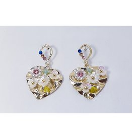 ERH0015 - Gold Flower,  Earring