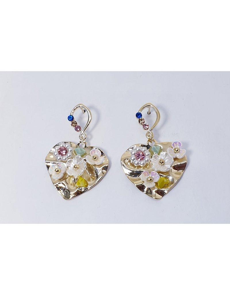 ERH0015 - Gold Flower,  Earring
