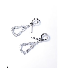 ERH0026 - Silver Drop,  Earring