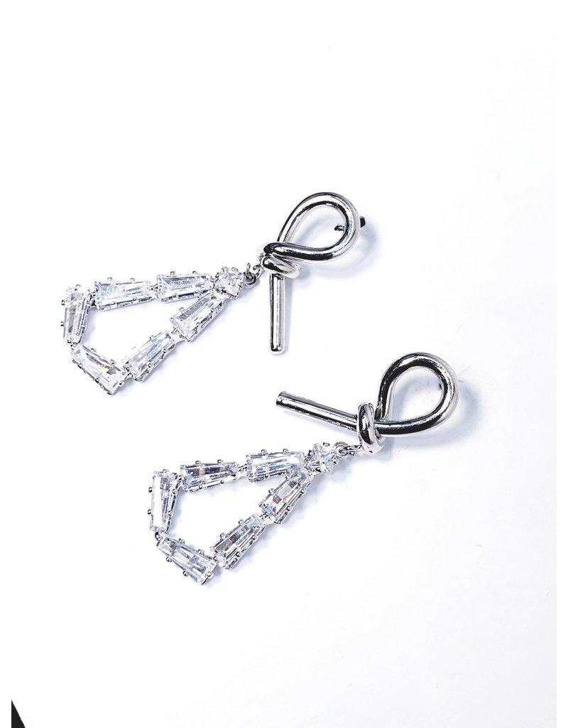 ERH0026 - Silver Drop,  Earring