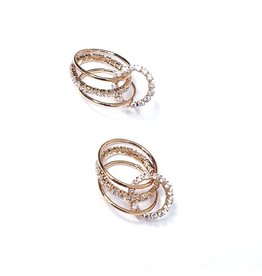 ERH0028 - Rose Gold Triple Hoop,  Earring