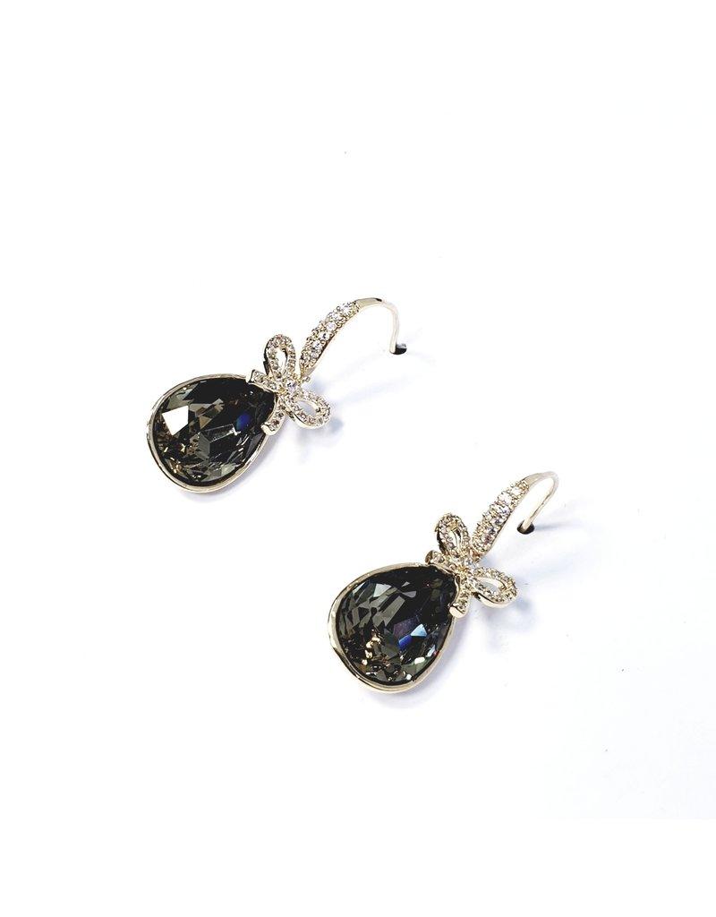 ERH0030 - Gold Bow, Drop,  Earring