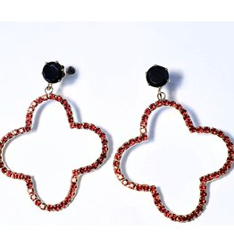 ERH0037 - Gold Red, Black,  Earring