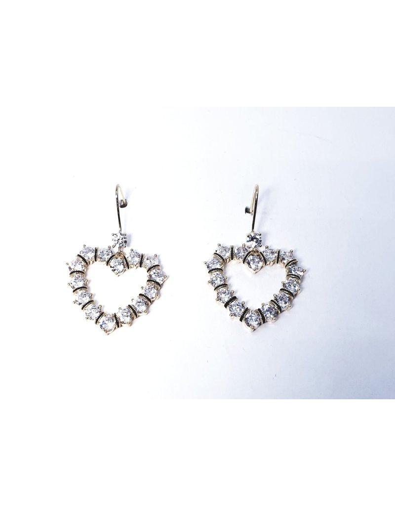 ERH0043 - Gold Heart Drop,  Earring