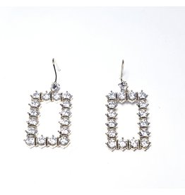 ERH0047 - Gold Drop Rectangle,  Earring