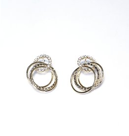 ERH0050 - Gold Triple Hoop,  Earring