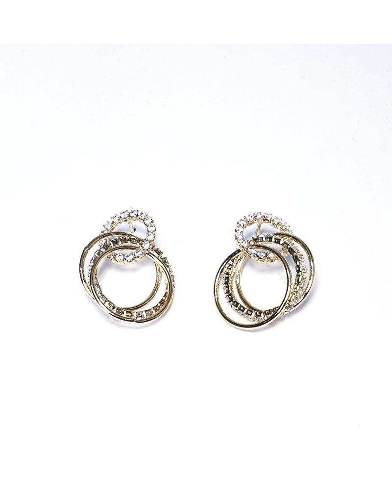 ERH0050 - Gold Triple Hoop,  Earring