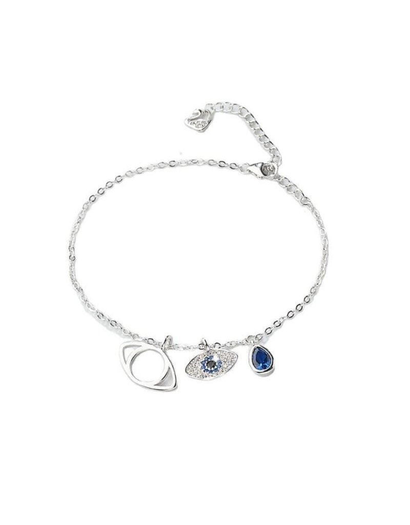 EEA0006 - Silver Evil Eye Bracelet