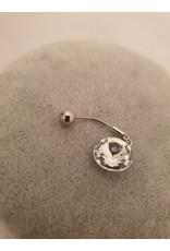 BLA0001-Silver Belly Ring