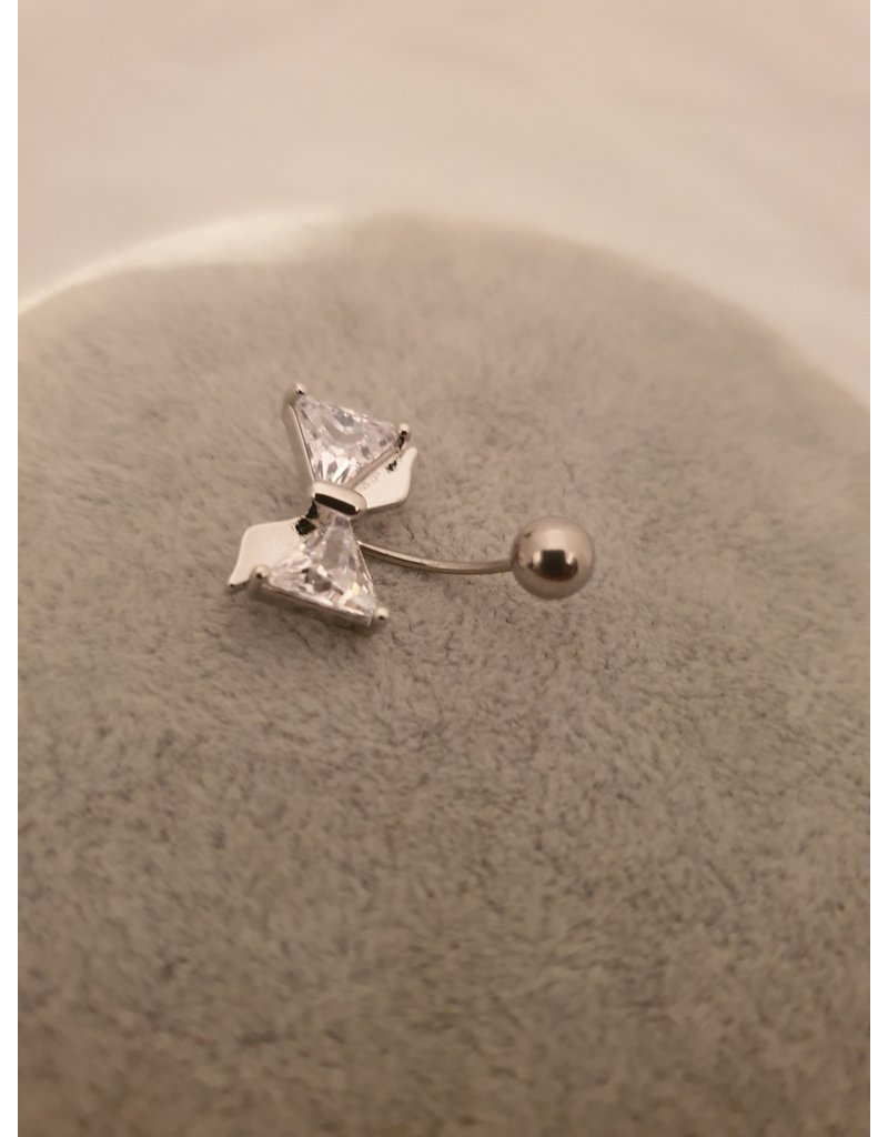 BLA0007-Silver Belly Ring