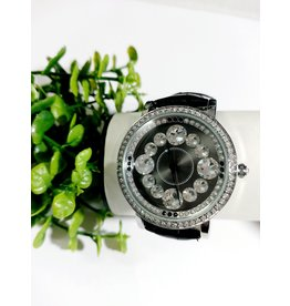 WTA0035 - Black and silver watch