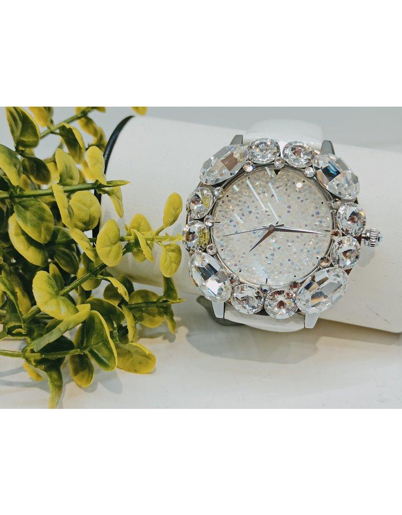 WTA0008 - White Silver Watch