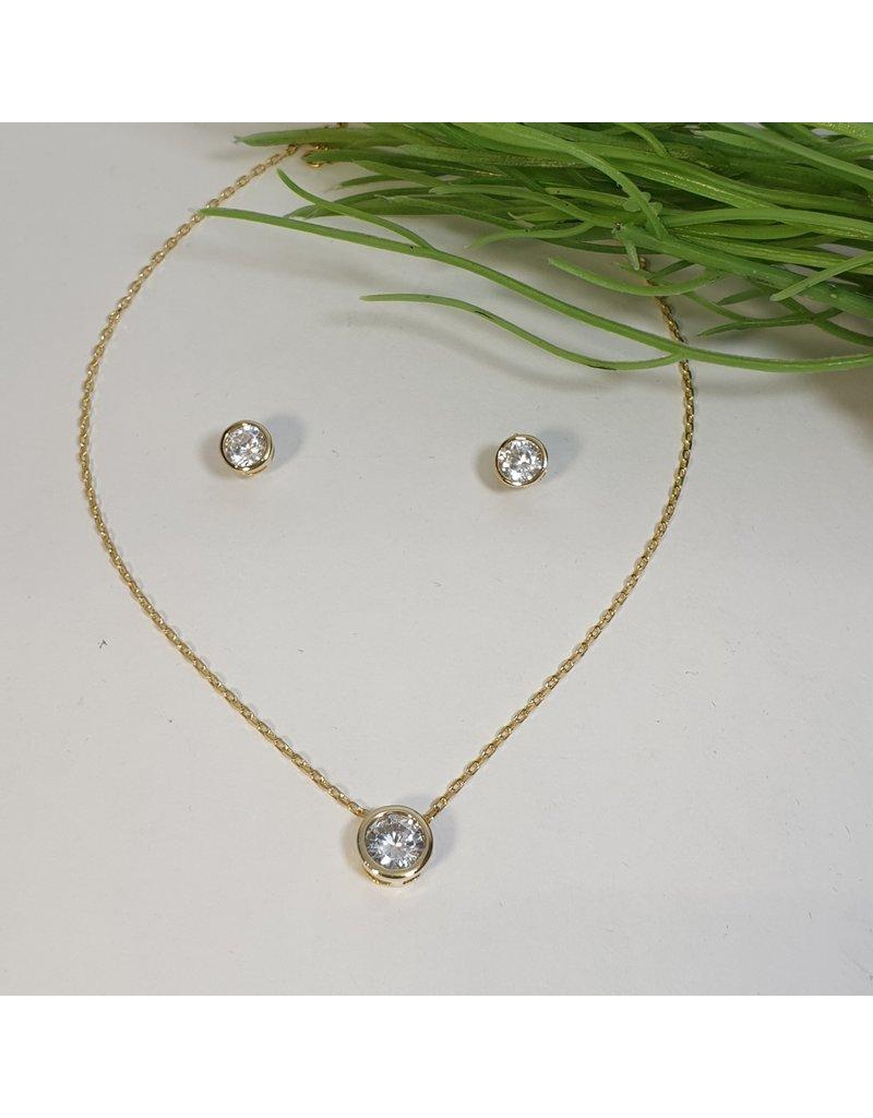 CSC0006 - Gold, Diamond Necklace Set