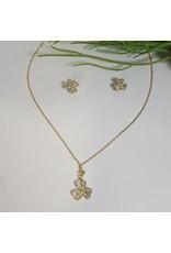CSC0010 - Gold, Flower Necklace Set