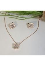 CSC0011 - Rose Gold, Clove Necklace Set