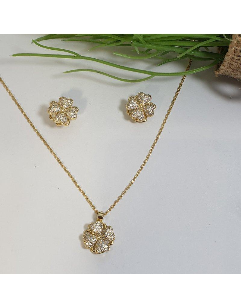 CSC0012 - Gold, Flower Necklace Set