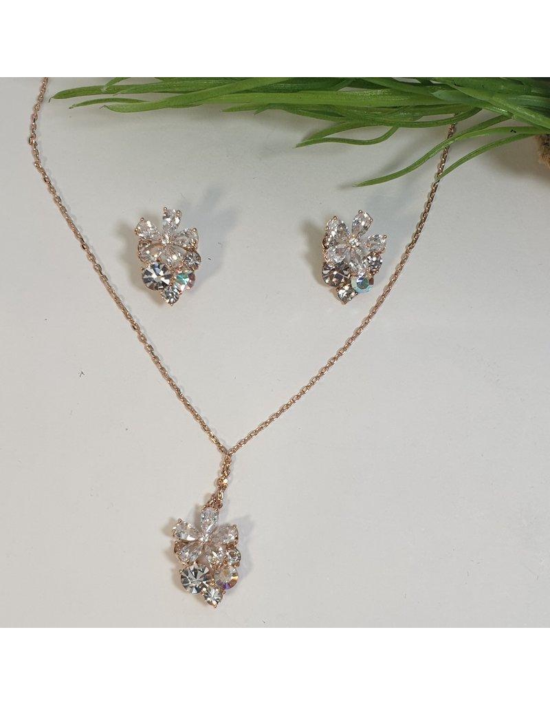 CSC0016 - Rose Gold,  Necklace Set