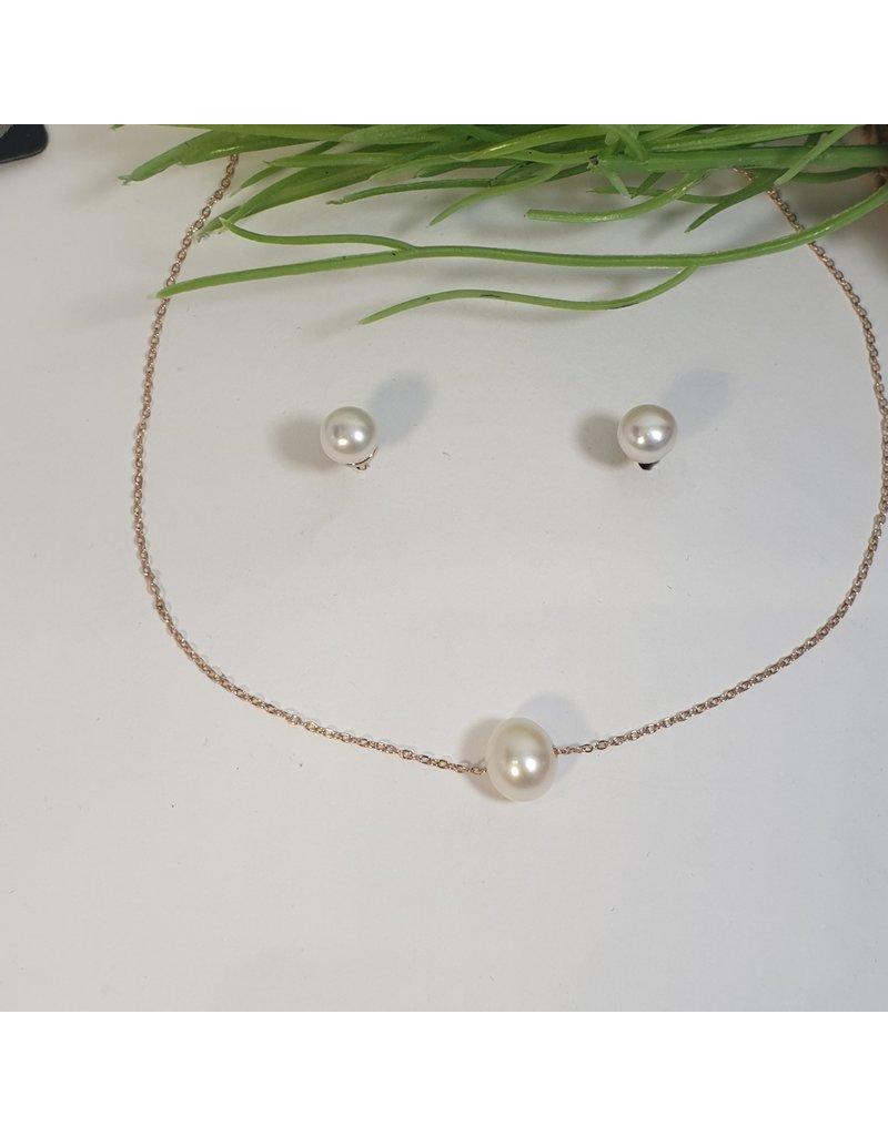 CSC0018 - Rose Gold,  Necklace Set